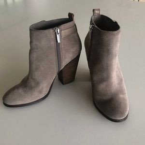 Coach taupe suede booties, 37